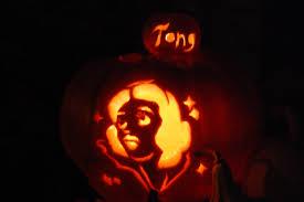 halloween movie pumpkin decor knittybutton