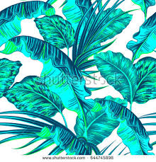 tropical palm leaves jungle leaf seamless stock vector 644745898