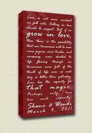 wedding keepsake quotes personalized valentines gift wedding vows by geezeescustomcanvas