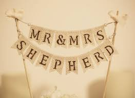 banner cake topper mr mrs cake topper rustic wedding cake topper customized cake