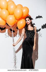 Woman Black Halloween Costume Young Woman Witch Halloween Costume Stock Photo 479710960