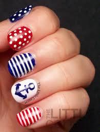 anchor stripes nail art youtube floral anchor nail art easy and