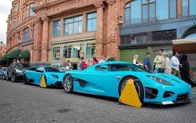 lamborghini family car supercars driven by harrods owners cled outside store telegraph