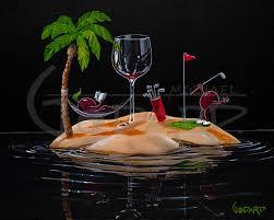 martini glass painting michael godard the official artist website