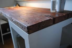 Ikea Work Table by Reclaimed Wood Desk Ikea Hackers Ikea Hackers