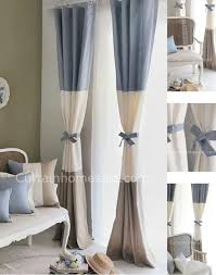 baby nursery curtains uk blue and beige colored cotton fabric