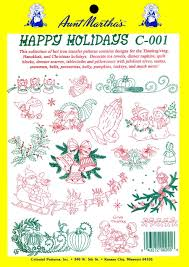 thanksgiving hanukkah amazon com aunt martha u0027s happy holidays iron on transfer pattern