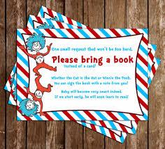 bring a book baby shower novel concept designs dr seuss bring a book baby shower