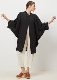 black crane spoon jacket black linen pinterest overalls