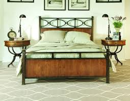 Wood And Iron Bedroom Furniture Bed Wood And Metal Bedroom Sets