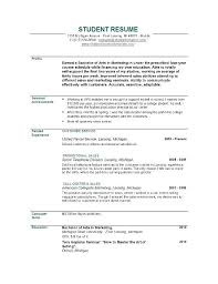 exle of resume for student student objective for resume college student sle resume