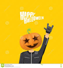 happy halloween vector rock n roll happy halloween vector greeting card stock vector