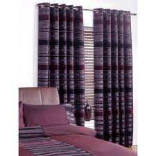 Lined Curtains Chenille U0026amp Faux Silk Curtains Luxury Striped Eyelet Ring Top