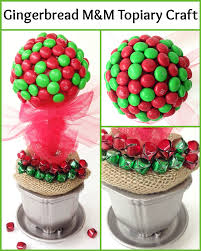 holiday decorating ideas gingerbread m u0026ms topiary craft for christmas