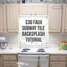 faux kitchen backsplash i created a faux subway tile backsplash using a brick stencil from