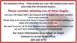 hands on thomas county u2013 salvation army angel tree