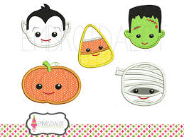 halloween applique designs fun faces in cute applique 2 sizes