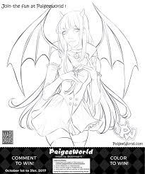 paigeeworld halloween coloring book contest coloring page by
