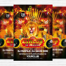 party flyer free circus u2013 free club and party flyer psd template exclsiveflyer