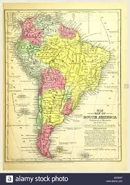 Map Of Sounth America by Map Of South America 19th Century Engraving Mitchell U0027s Atlas