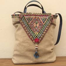Pouf Etnico by Kussen Van Paula Bag Made With An Afghani Necklace Http