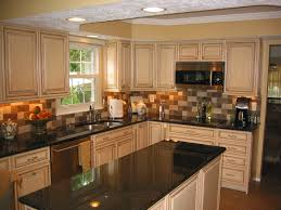 glazed kitchen cabinets granite countertops porcelain tile