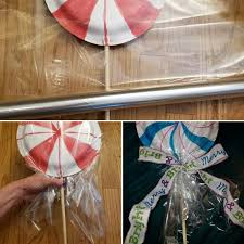 Large Home Decor Diy Large Lollipops Wrapped Candy Peppermint Decor Or Tree Toppers
