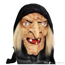 Latex Halloween Costume Merry Toy Long Nose Horror Latex Witch Mask Halloween Festival