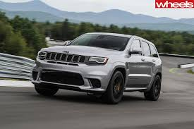 jeep trackhawk grey 2018 jeep grand cherokee trackhawk review wheels