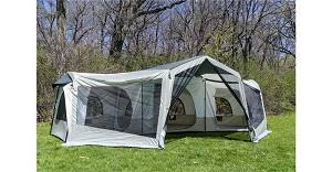 small and large family camp tents with screen room screened porch