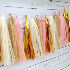pink gold tassel garland kit shabby chic party decor event