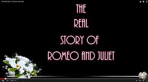the real story of romeo and juliet