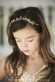 gold headband flower girl gold halo headband hair vine silk fairies