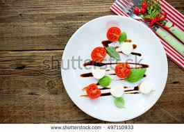 tree caprese salad festive appetizer stock photo