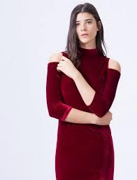 bershka si e social vestido rojo terciopelo zara bershka stradivarius pull