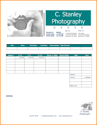 Photography Order Form Template Excel 7 Photography Invoice Template Receipt Templates