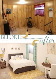 Paneling For Basement by 7 Stunning Room Reveals Makeovers Basement Guest Rooms