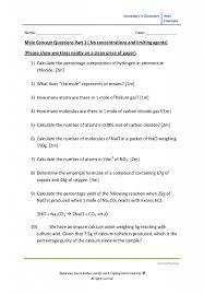 secondary 3 chemistry worksheet mole concept hannahtuition