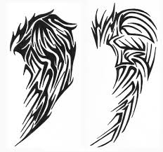 tribal clipart wing pencil and in color tribal clipart wing