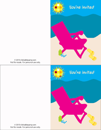 printable party invitations free free summer party printables from clickable party catch my party