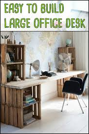 Large Office Desk Easy To Build Large Desk Ideas For Your Home Office Home Office
