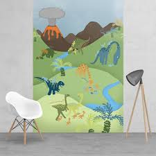 1wall cathrine lansfield childrens dinosaur feature wall wallpaper cathrine lansfield childrens dinosaur feature wall wallpaper mural 1 58 x 2 32m