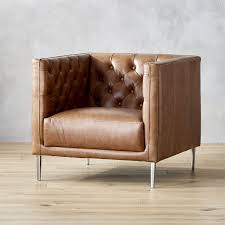 Leather Club Armchair Contemporary And Modern Chairs Accent And Armchair Cb2