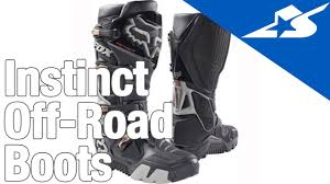 motorcycle road racing boots instinct off road boots by fox motorcycle superstore youtube