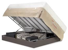 Forever Bed Frame Forever Storage Foundation Clamshell Opening Flip Up Bed Storage