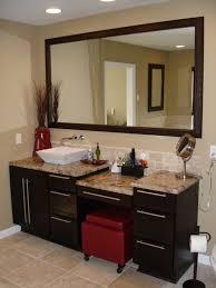 Single Bath Vanity Single Bathroom Vanity With Makeup Area U2022 Bathroom Vanities