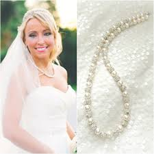 pearl necklace wedding images Fireball and swarovski pearl necklace ali christine bridal jpg