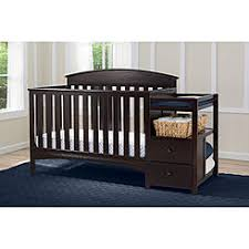 convertible crib and changing table cribs crib changer combo sears