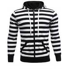 striped zip up hoodie online for sale gearbest com