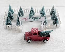 miniature christmas tree lot christmas decoration holiday craft